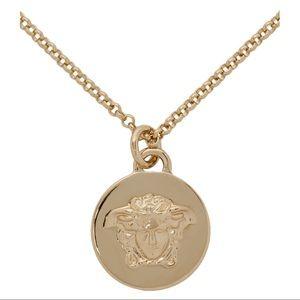 VERSACE Goldtone Medusa necklace gold chain